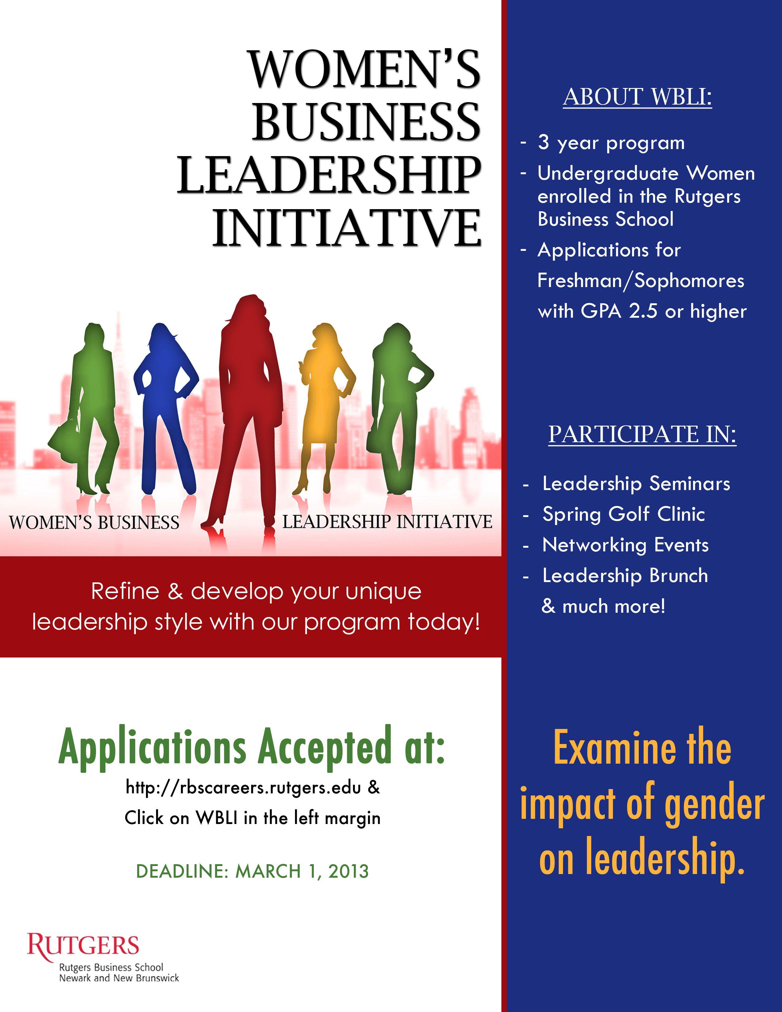 Wbli Rutgers Women S Business Leadership Initiative Www