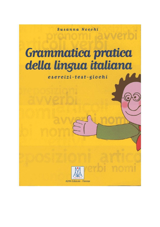 Grammatica Avanzata Della Lingua Italiana Pdf