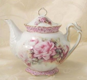 A beautiful teapot with pink roses & gold trim! Description from pinterest.com. I searched for this on bing.com/images