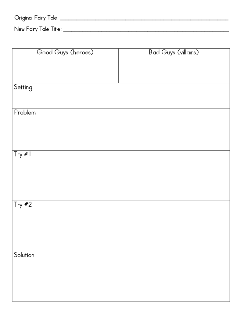 worksheet Fairy Tale Worksheets i do we you fairy tale writing unit planner reading planner