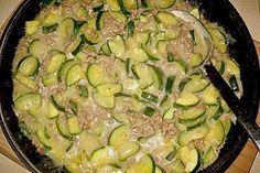 Würzige Zucchini – Hackfleisch – Pfanne