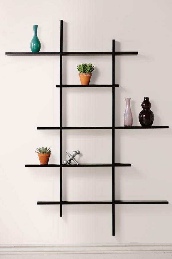 ... Wall Display Shelves For Collectibles Modern Design Large Square  Transparance Stayed Rack Strong Glass Material White ...