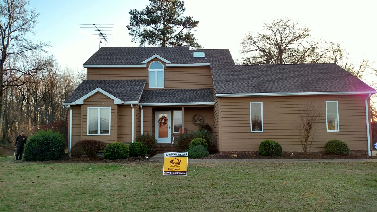 Exterior home improvement ideas - Gaf Timberline American Harvest Saddlewood Ranch Gaf American