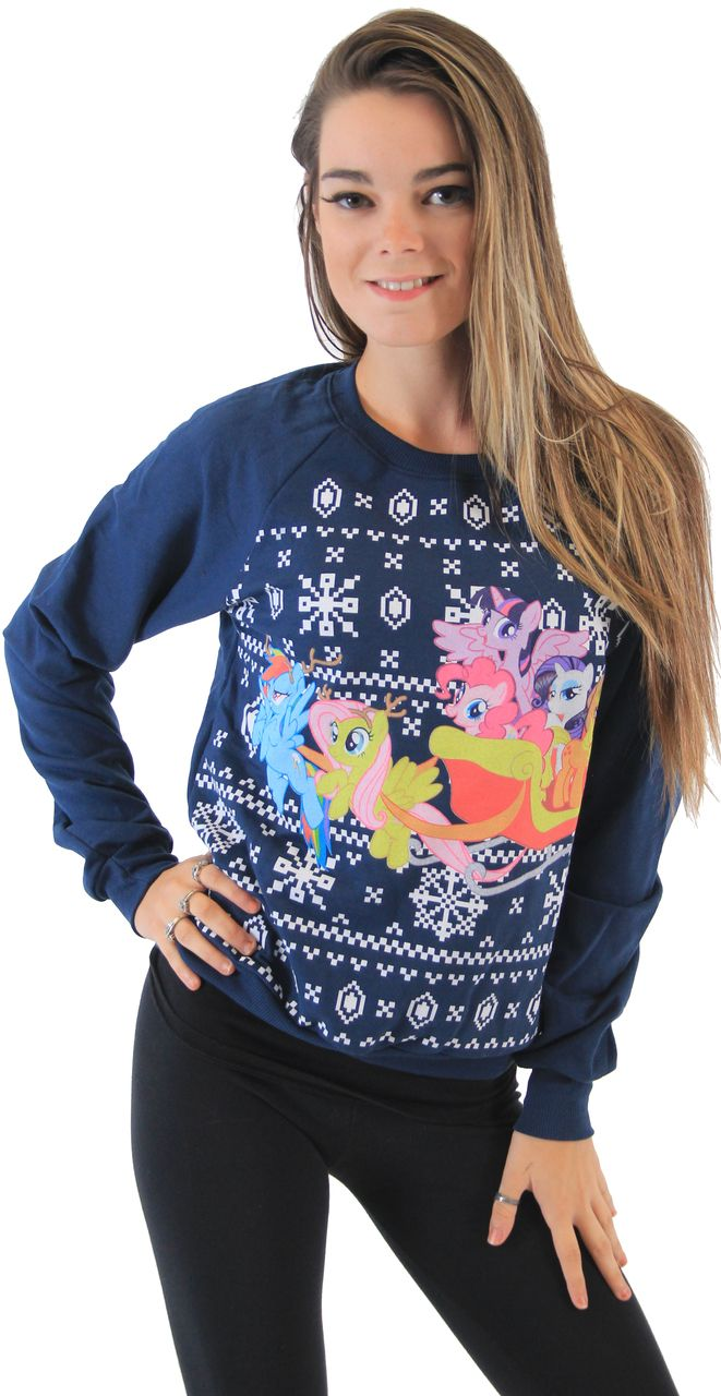 My Little Pony Men/'s Ugly Christmas Friends  T-Shirt