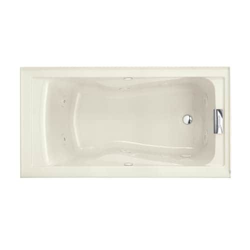 American Standard 2425VC RHO Evolution 60 Acrylic Whirlpool Bathtub With  Right Hand Drain And EverClean