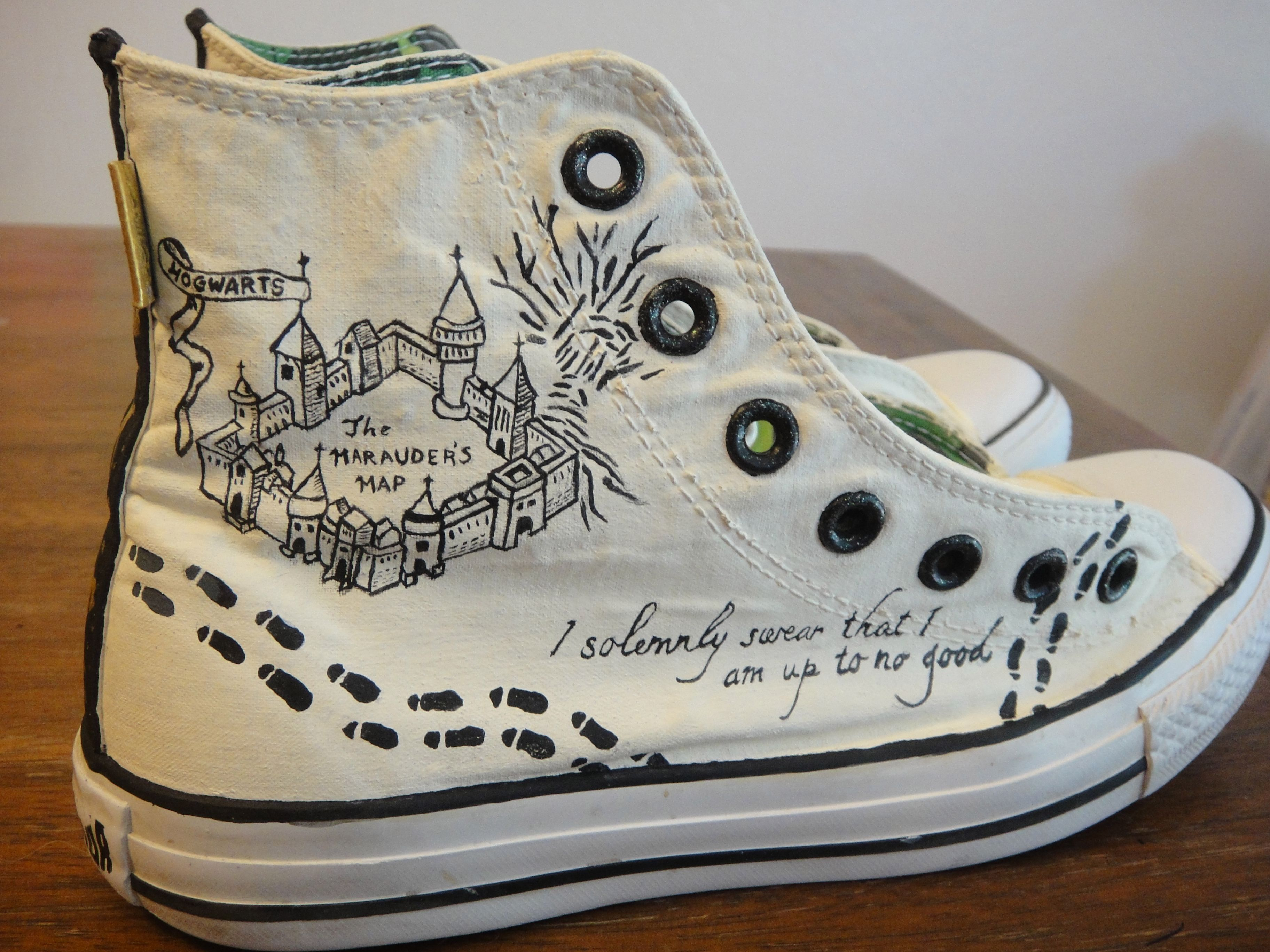 Hand painted Harry Potter Converse 4378ebad2