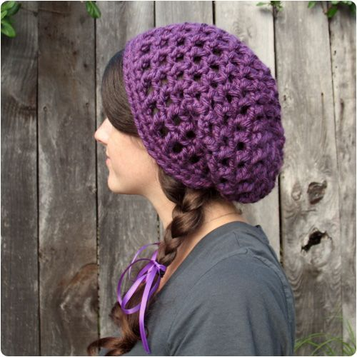 Free Crochet Pattern Waffle Cone Slouchy Hat From Gleeful Things