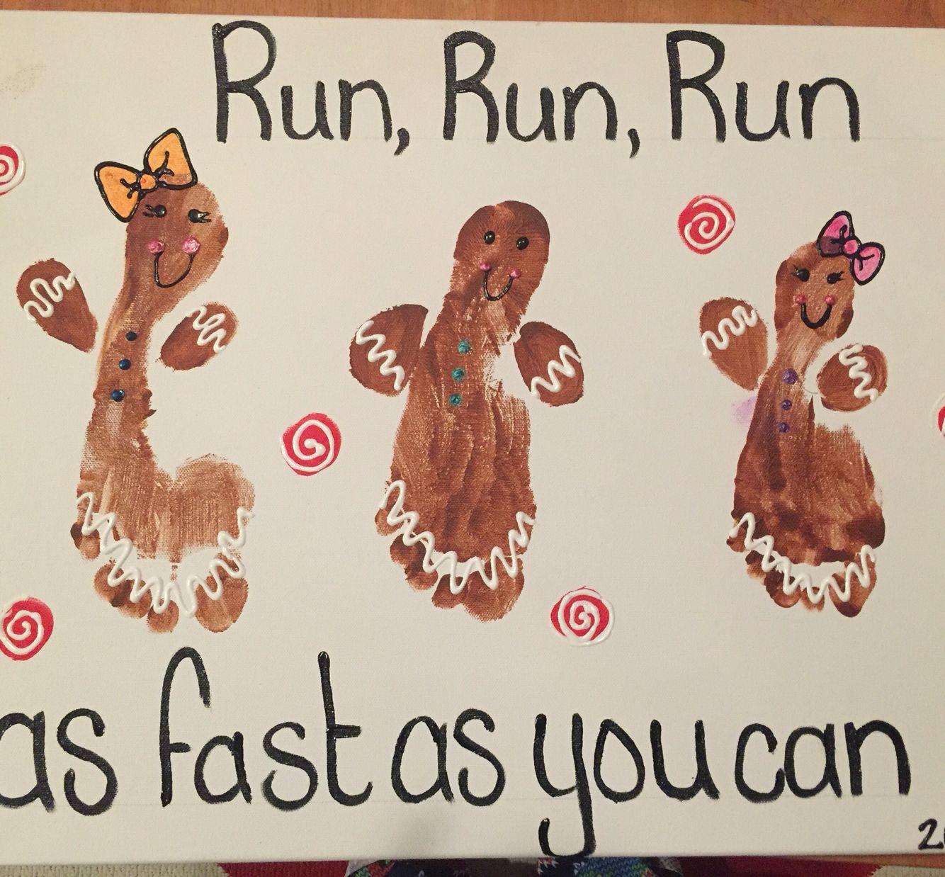 Gingerbread Man Footprints Preschool Christmas Crafts Fun Christmas Crafts Christmas Crafts For Toddlers Gingerbread man art activities for