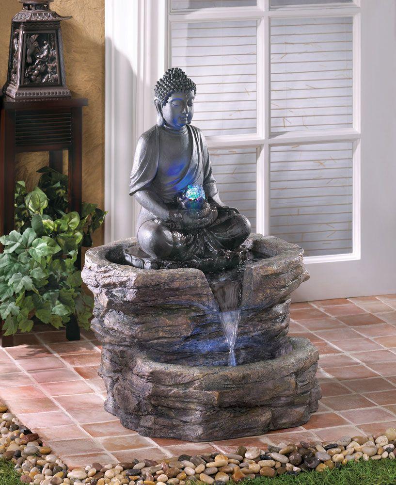 Buddha Glow Outdoor Fountain