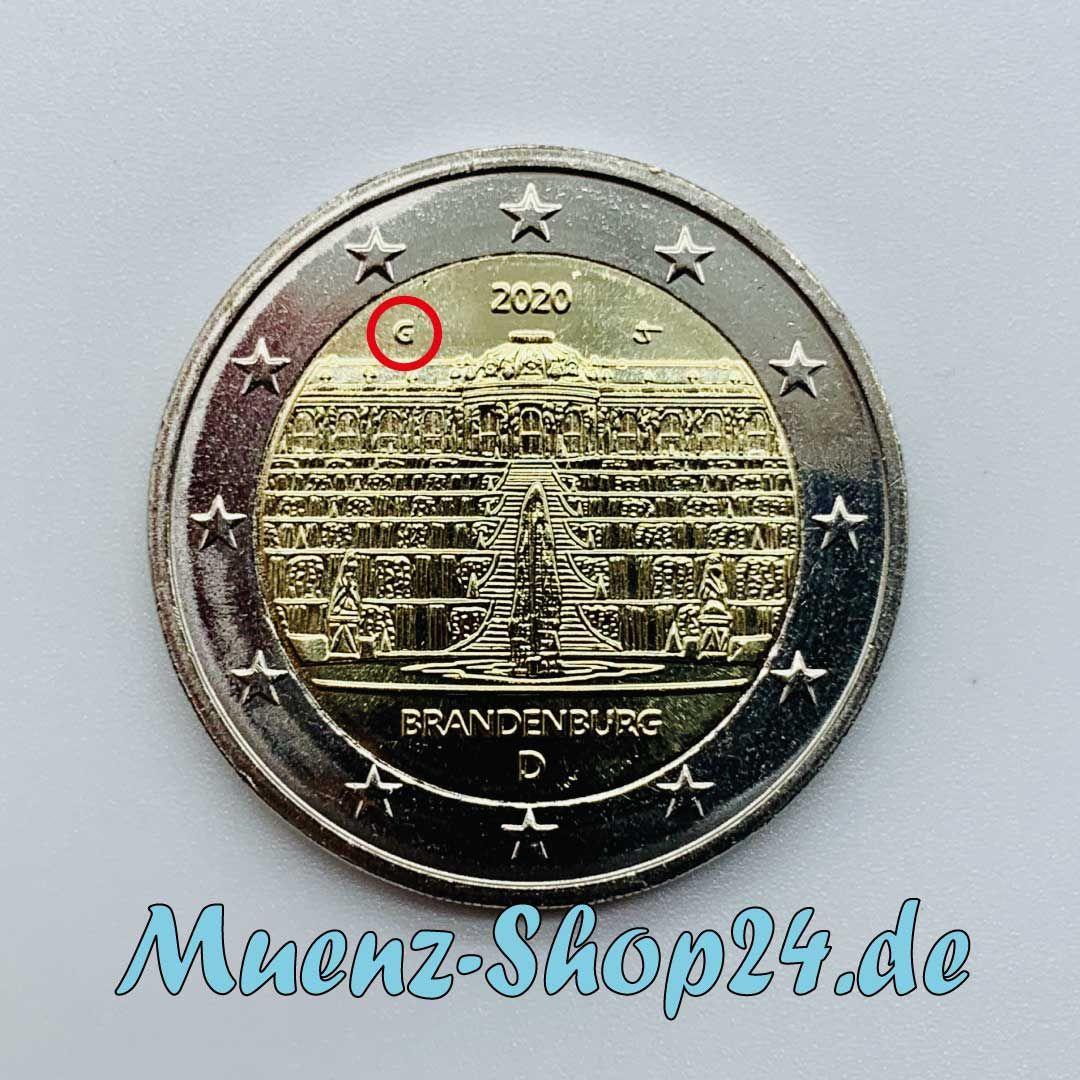 2 Euro Gedenkmunze Brandenburg Serie Bundeslander In 2020 Brandenburg Euro Munzen Sammeln