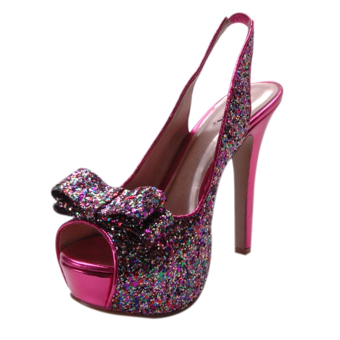 Hot pink dress shoes  Night Moves by Allure Shimmer Multi  Shoes Shoes u more Shoes
