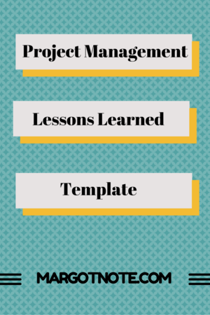 Project Management Lessons Learned Template | Project Management in ...