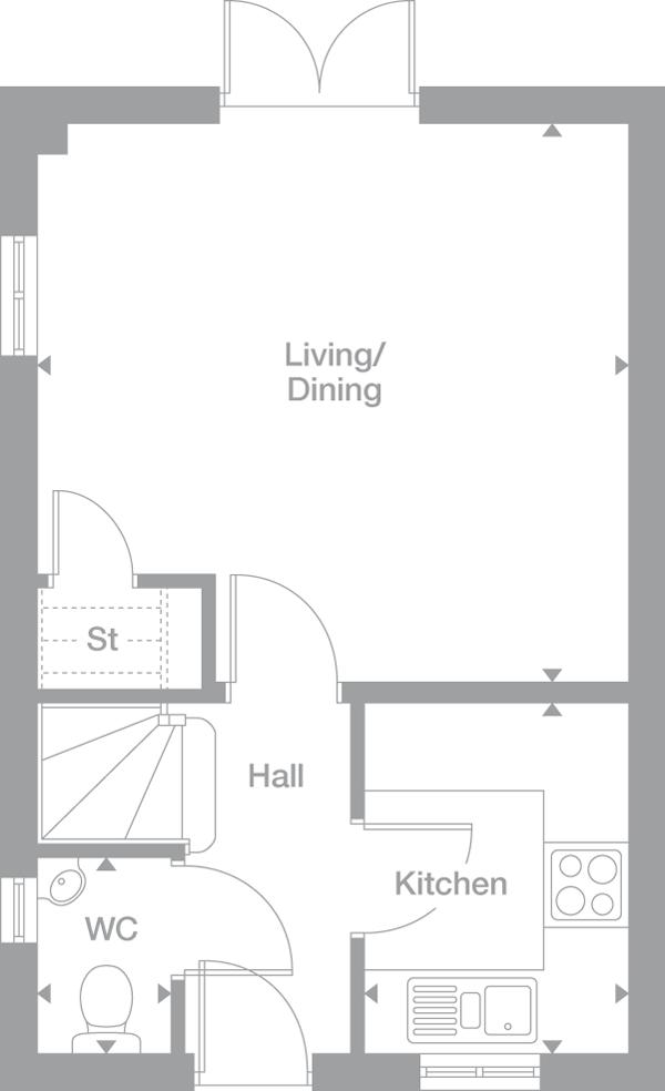 e2c44467a7f7d1df382a6f7fd4b9503e rydal 2 bedroom the portlands chesterfield miller homes,Miller Homes Floor Plans