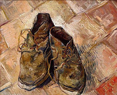 schilderij schoenen van gogh