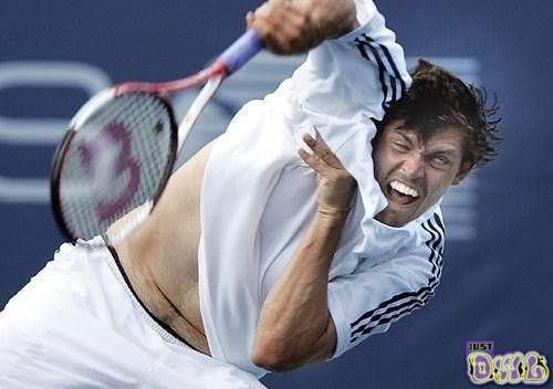 Tennis Player Face Expression Fail Just Dwl Sports Humor Funny Faces Sports