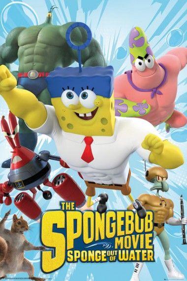 Spongebob Na Suchym Lądzie Plakat Bajki Cartoons