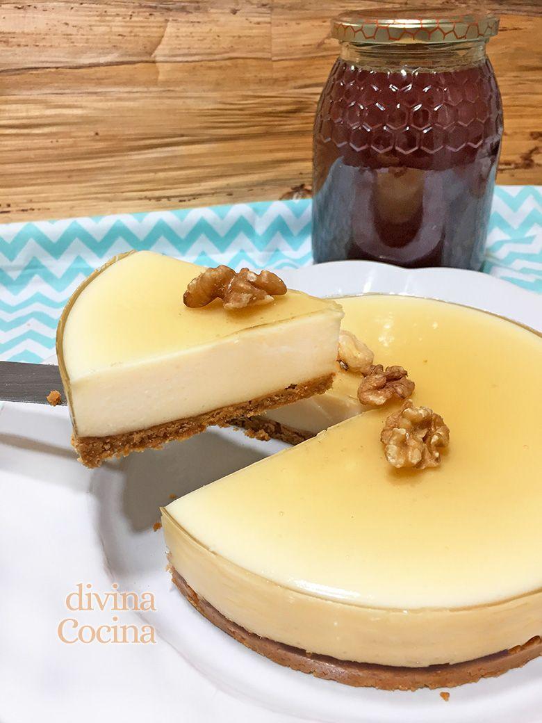 Receta de Tarta de cuajada y yogur con miel sin horno