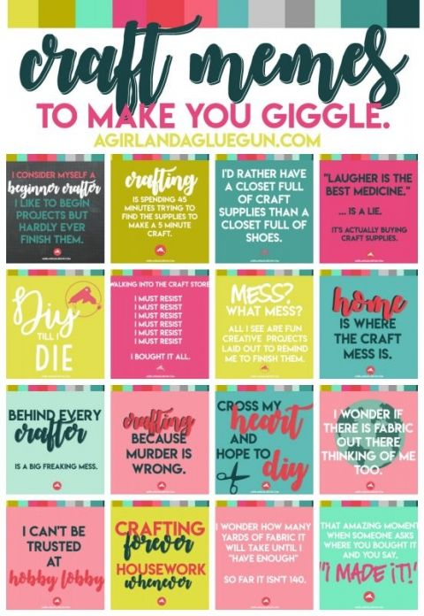funny craft memes to make you giggle. - A girl and a glue gun