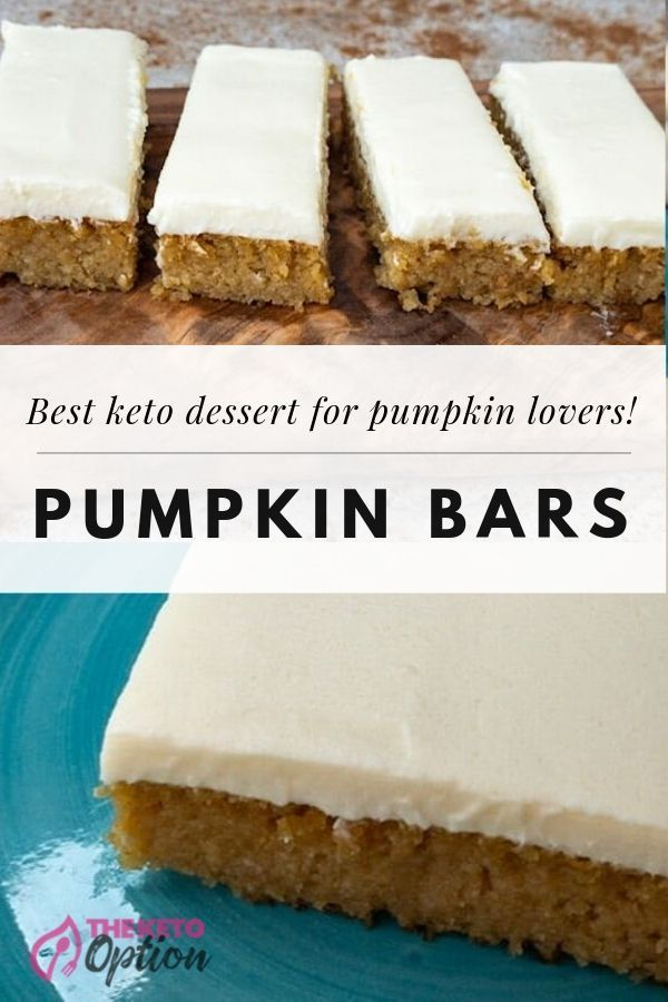 Pumpkin Bars { Low Carb | Keto | GF } #ketodessert
