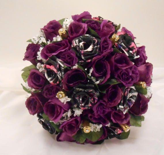 Muddy Girl Camo Wedding Bouquet Camo Bridal Bouquet Wedding