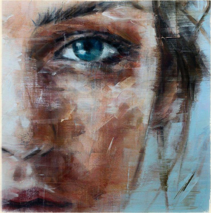 oil art woman face blue eyes painting | Art photography, Art, Art painting