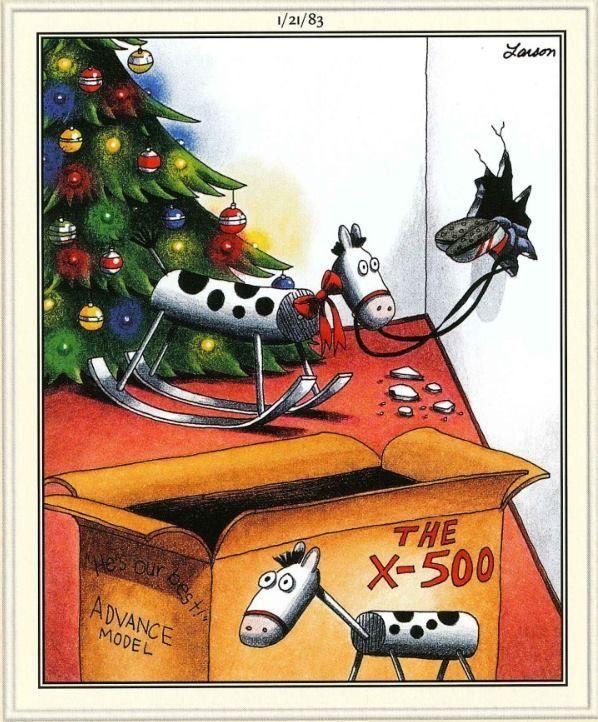 Far Side Christmas Cartoons : christmas, cartoons, Side