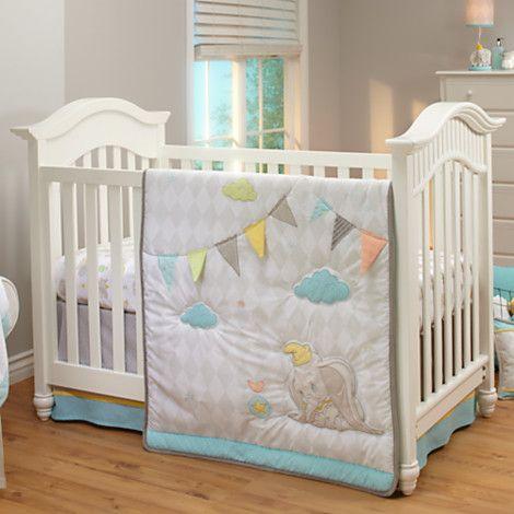Dumbo Crib Bedding Set for Baby Personalizable Dumbo