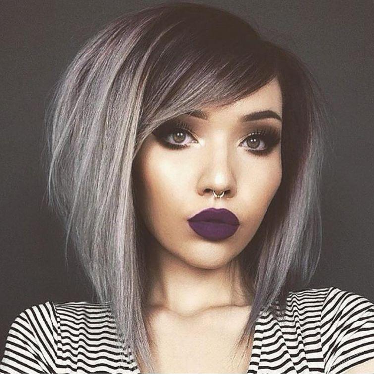 Californianas plata en cabello corto