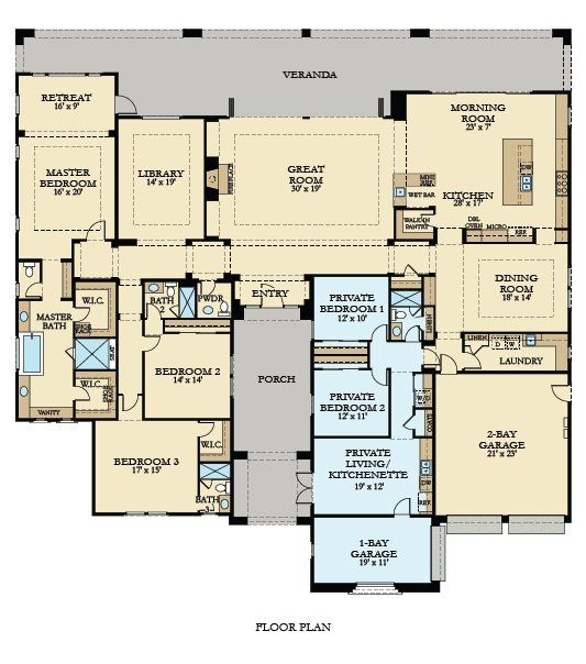 I Like This For A Mother In Law Suite With Separate Garage And Entry Letting Them Ha Multigenerational House Plans Family House Plans Multigenerational House