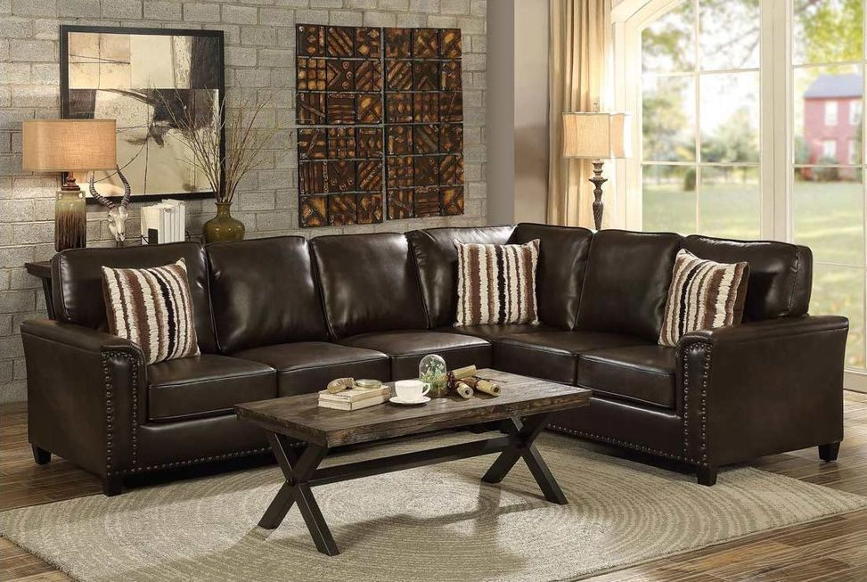 Best Larry Jpg Brown Sectional Sofa Upholstered Sectional 400 x 300