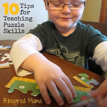 10 Tips for Teaching Kids Puzzle Skills from B-InspiredMama.com