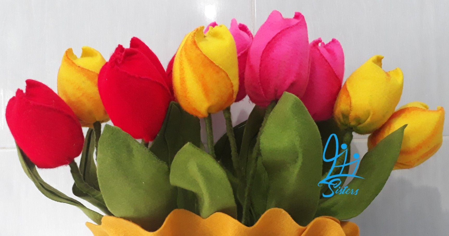 Felt Tulip Flower Diy Flowers Felt Flowers Diy Fabric Flowers Diy