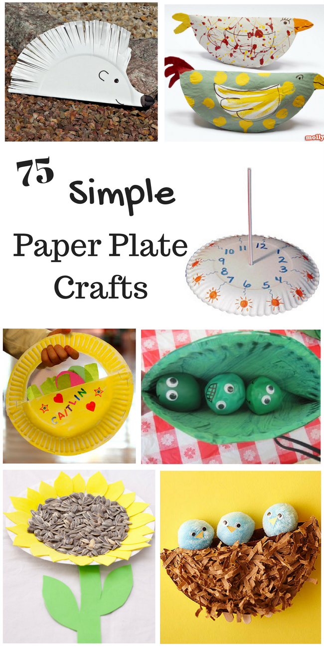Simple Paper Craft Ideas For Kids Part - 43: 75 Simple Paper Plate Crafts For Every Occasion