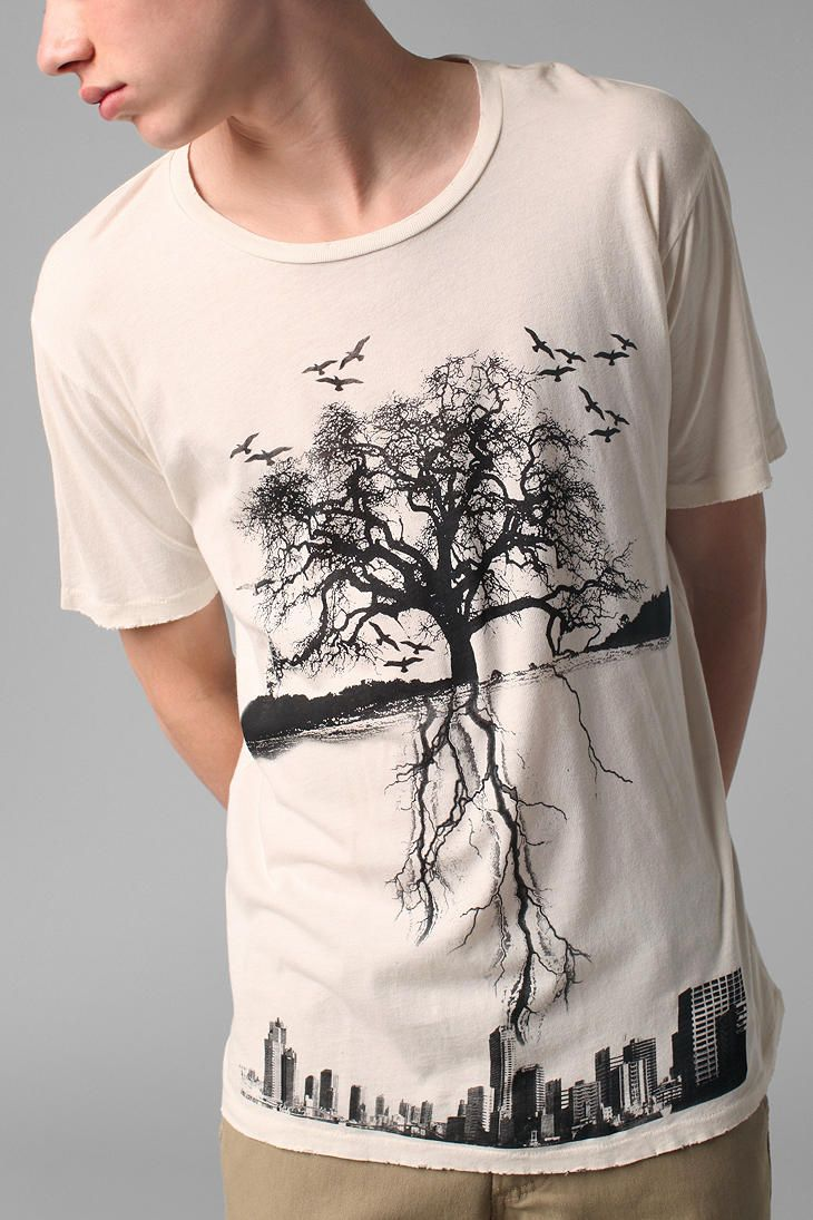 411769231 Urban Outfitters - City Roots Tee | My style | Shirts, Mens tops, T ...