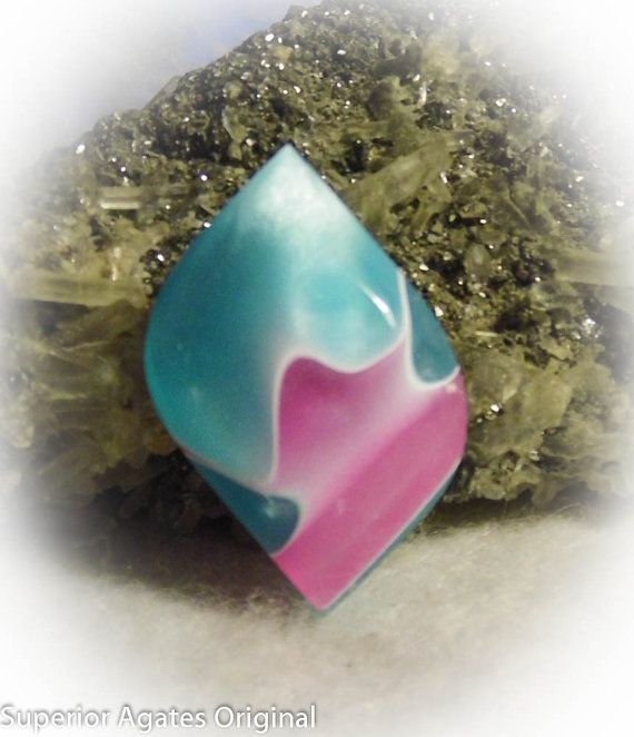 Free Form Hand Cut Bowlerite Flat Backed Cabochon for Wire Wrap ...