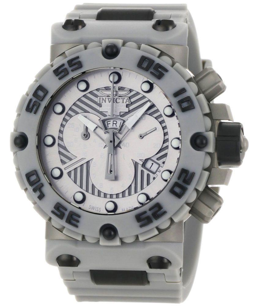 Invicta 0657 Men's Subaqua Nitro Grey Dial Chronograph Watch