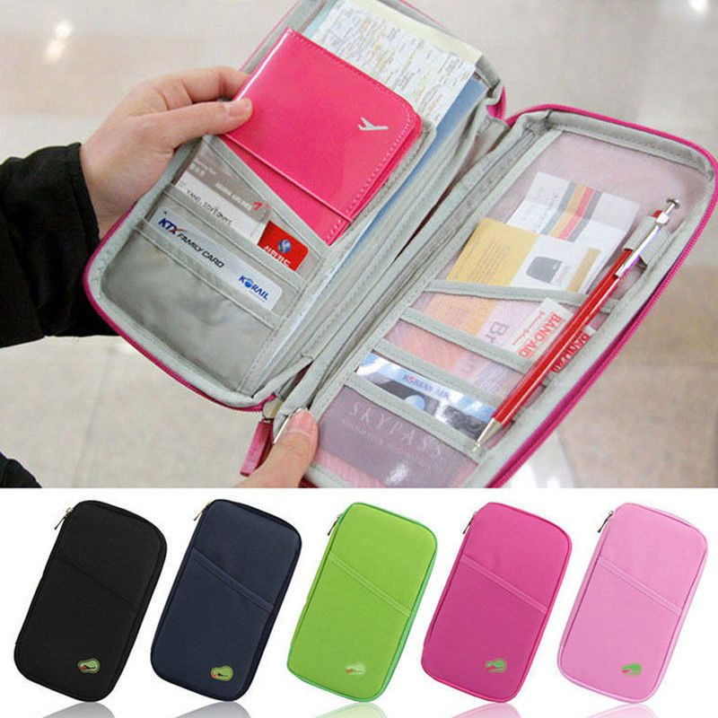 Travel Wallet Passport Holder Case Phone Credit Card ID Cash Purse Leather Cover