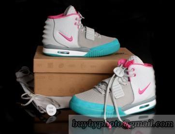 online store 4cdc1 74a5e Nike Air Yeezys 2 Women Grey Pink Blue