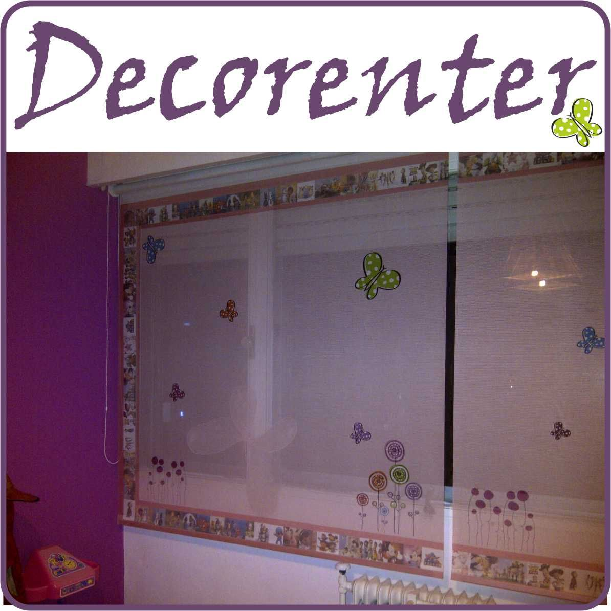 cortina roller screen con diseo infantil