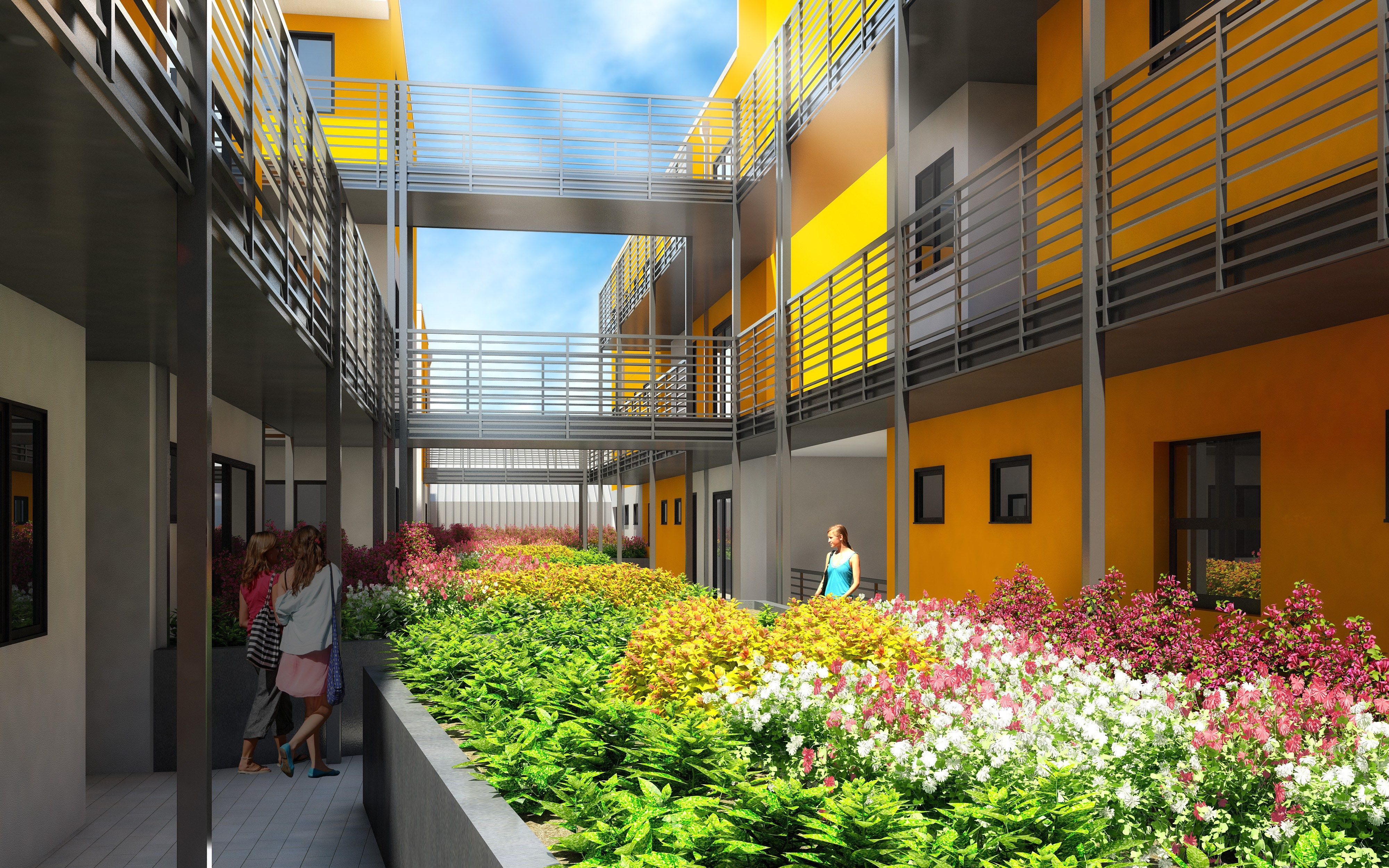 Image Result For Courtyard Apartments Single Loaded Corridor Courtyard Apartments Courtyard Apartment