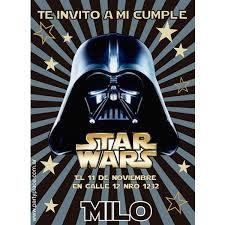 Resultado De Imagen Para Invitaciones Star Wars Tarjetas