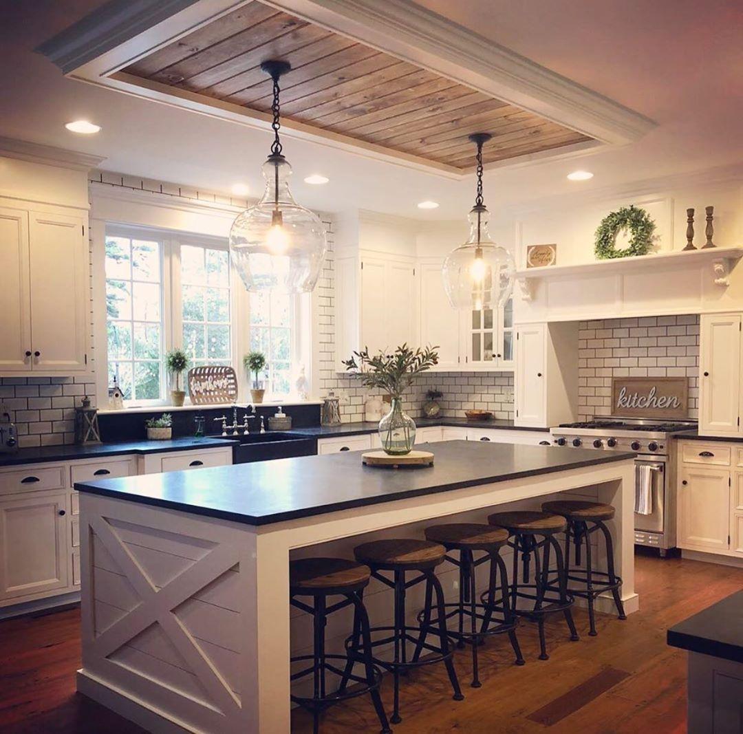 Riverside Design Home Decor On Instagram Love This Kitchen From Farmhousefilledwithkids Fol House Design Kitchen Home Decor Kitchen Kitchen Remodel