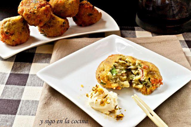 Bolitas de berenjena jamon y queso