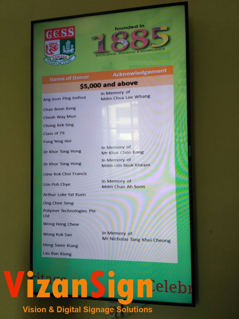 Education Digital Signage Singapore Education Digital Signage