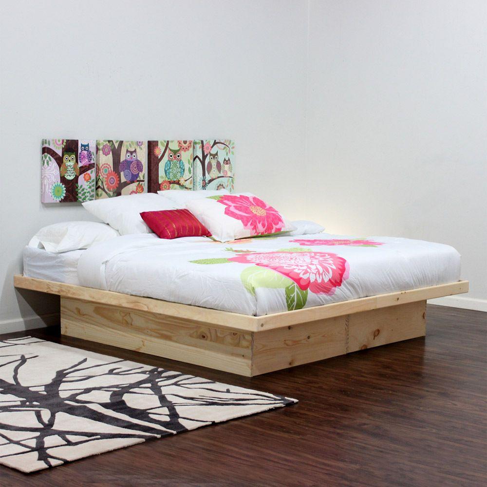 King platform bed pine wood pinterest king platform for Gothic cabinet craft platform bed