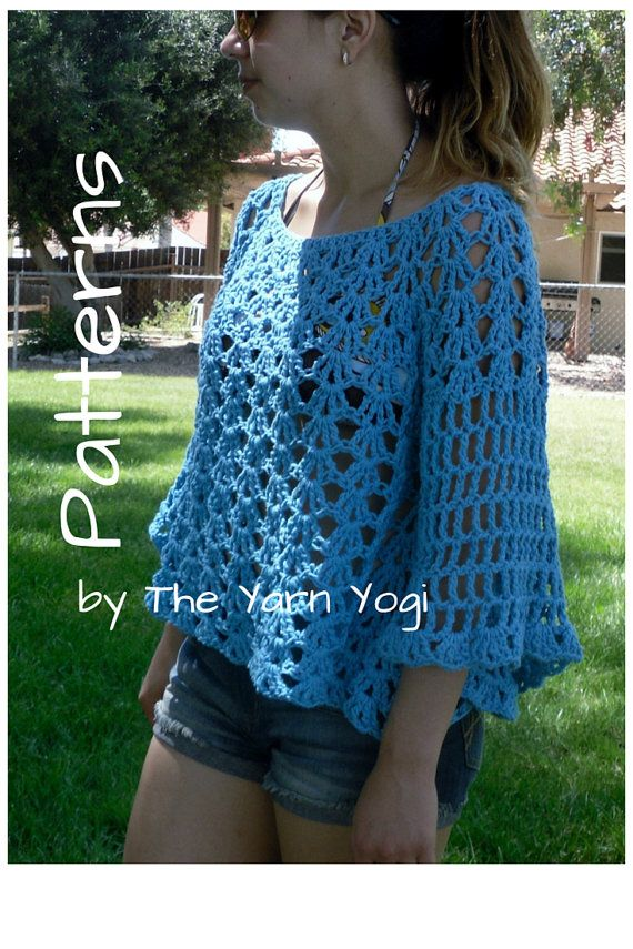 Crochet Sweater Top Pattern: The Angel Sleeve by TheYarnYogi ...