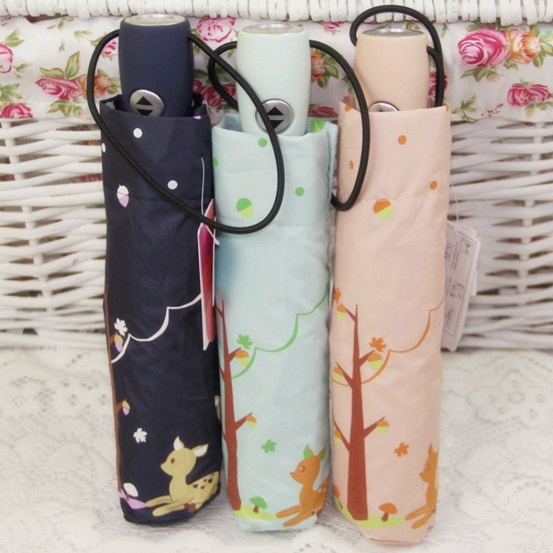 Find More Umbrellas Information about Chinese ChowDon Novelty Three Folding Cute Cartoon Anime Deer Print Silver Coating Automatic Umbrellas Windproof UV Protection,High Quality umbrella bag,China umbrella stick Suppliers, Cheap umbrella softbox from ChowDon Household Mall on Aliexpress.com