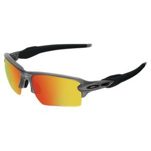 271ef9c14b62c Oakley Flak 2.0 XL Polarized Sunglasses - Matte Grey Smoke Fire Iridium  Mirror Óculos De