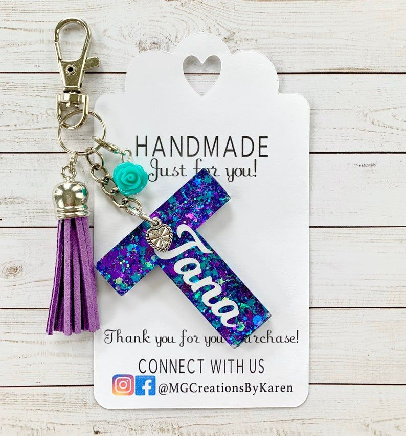 Letter Keychain Initial Keychain Initial Key Ring Letter