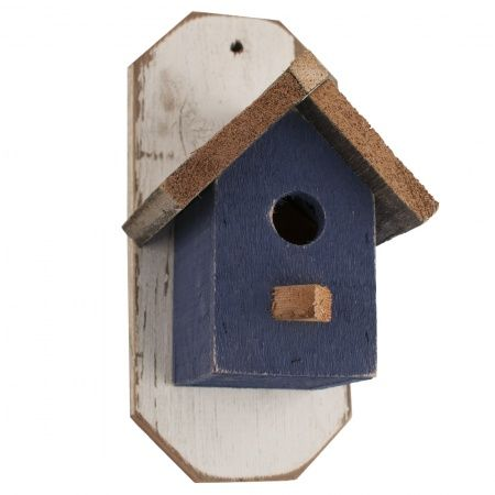 Blue Barn Wood Bird House: Foothills Wood Factory